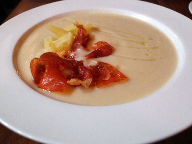 Parsnip and celeriac soup