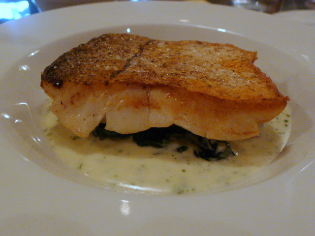 Haddock, spinach & parsley sauce