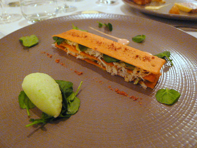 Mille-feuille of crab