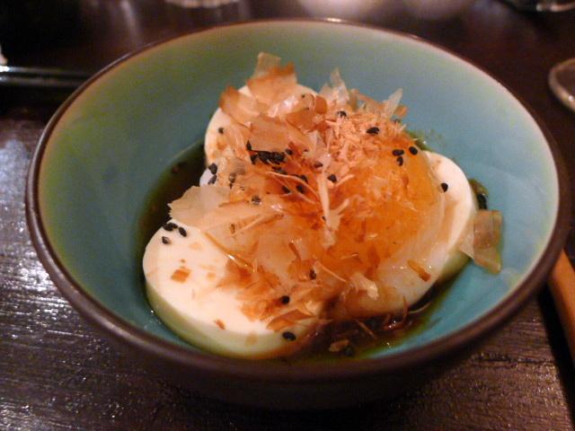 Sous-vide duck egg onsen