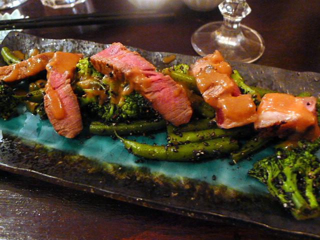 Marinated rib-eye steak