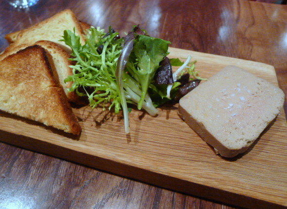 Foie gras and chicken liver parfait