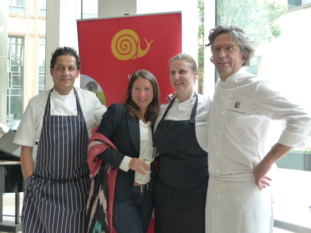 L to R: Francesco, Cat Gazzoli (CEO, Slow Food UK), Angela and Giorgio
