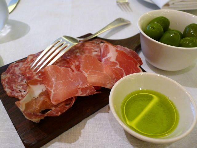 Ham and salami platter