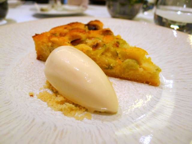 Gooseberry and frangipane tart