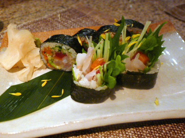 Mixed seafood maki roll