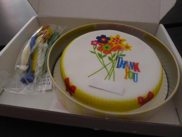 A 'thank you' cake