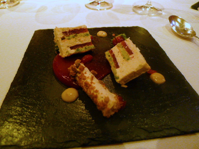 Griottine cherry and cranberry terrine