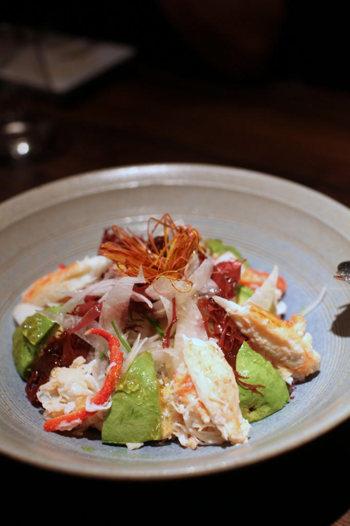 Alaskan king crab salad