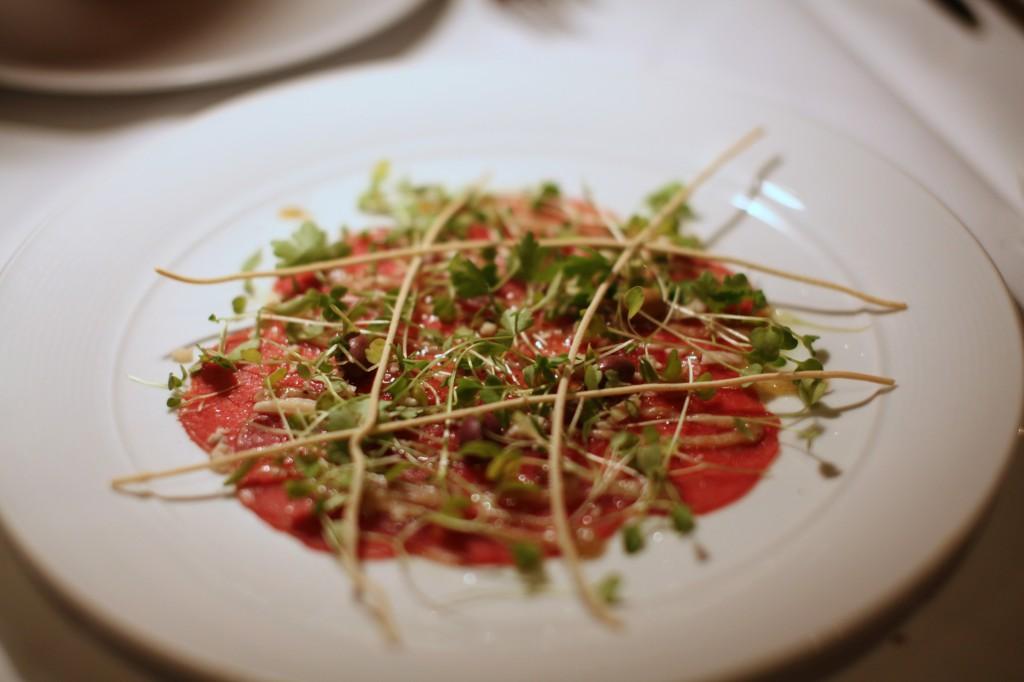 Alba style beef carpaccio