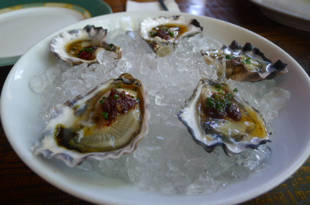 Sydney rock oysters with XO ponzu