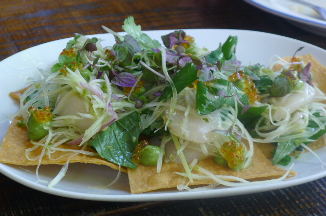 Sea scallop tostadas