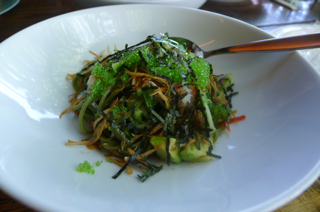 Snow crab & green tea soba noodle salad