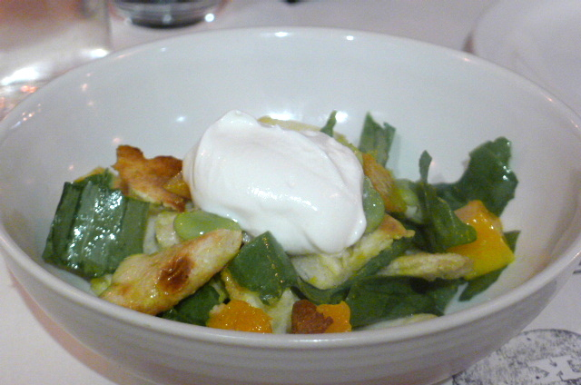 Broad bean & butternut squash salad