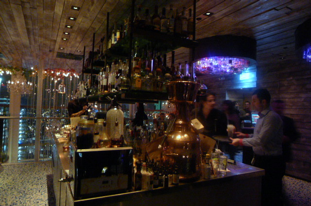 The bar at Duck & Waffle