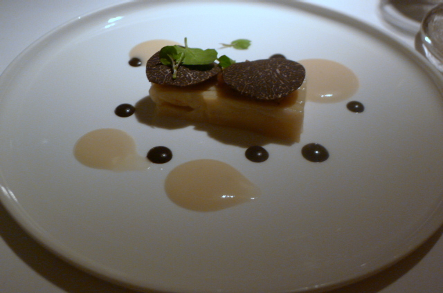 Celery, parsnip, Jerusalem artichoke with black truffle