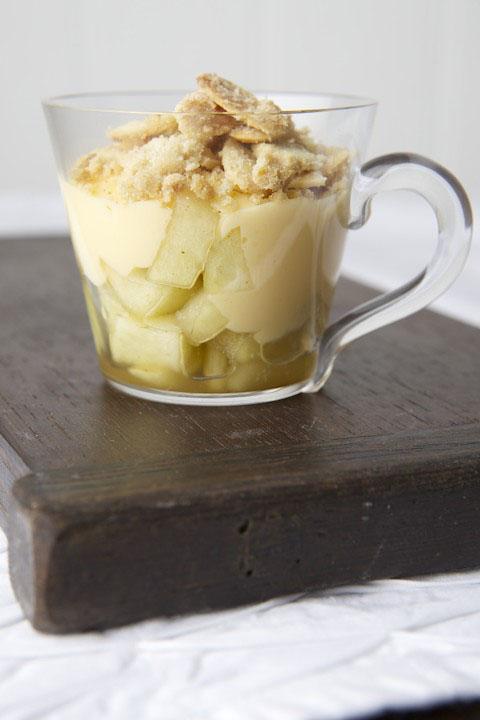 Apple crumble crema CatalanaApple crumble crema Catalana
