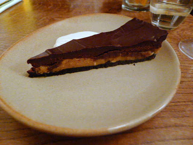 Oreo, peanut butter, chocolate tart