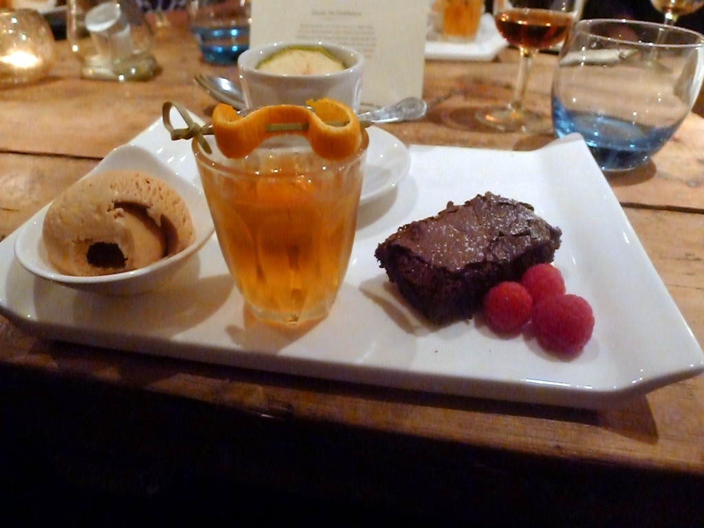 Trio of desserts with Holetown Old Fashioned