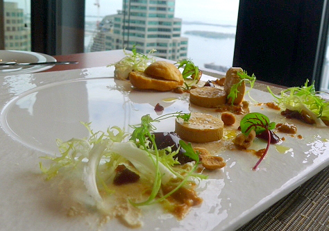 Foie gras cured with Sortilège Maple Whisky