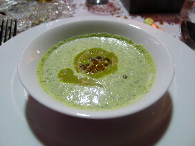 Cucumber and sorrel soup
