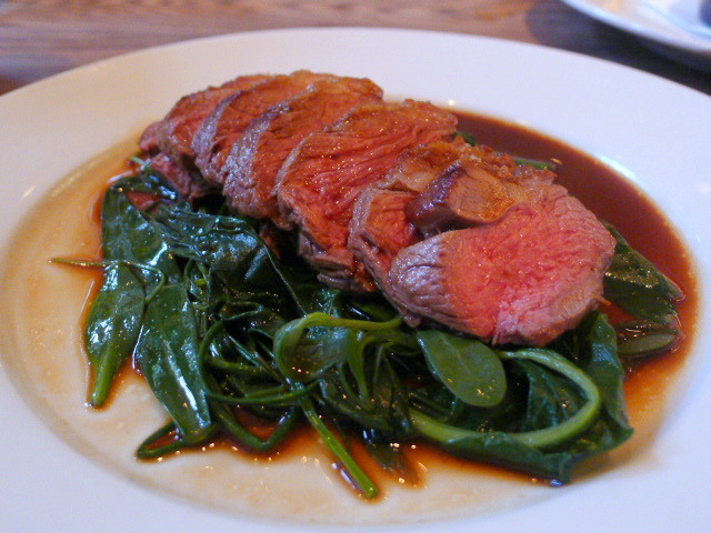 Roast rump of lamb