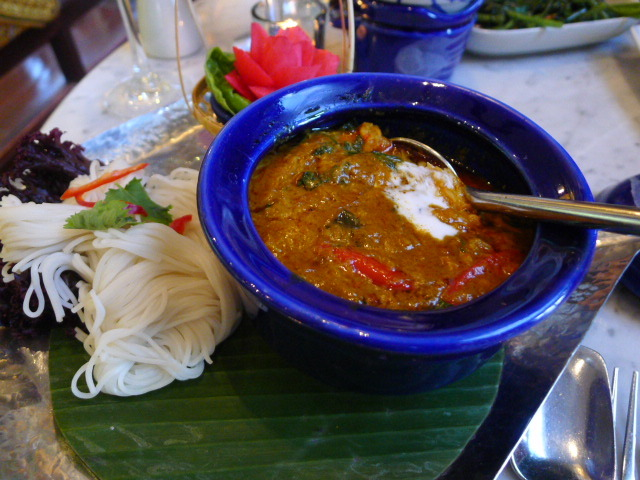 Crab curry with betel leaves