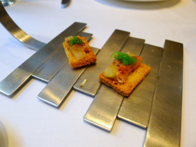 Foie gras with apple
