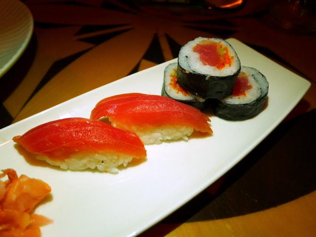 Tuna sushi and rolls