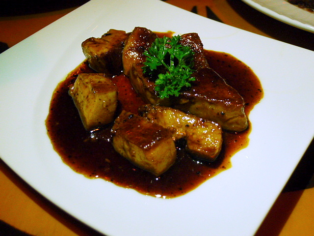 Teppanyaki goose liver
