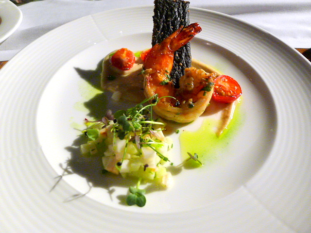 Pan-seared scallop & prawn