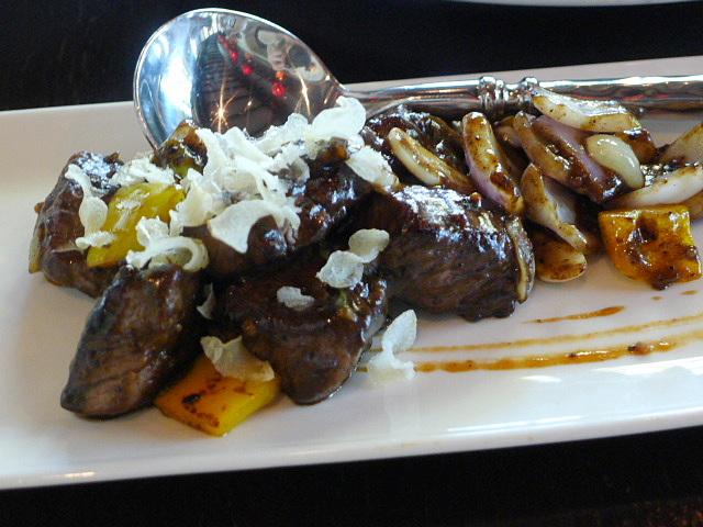 Sauteed beef tenderloin