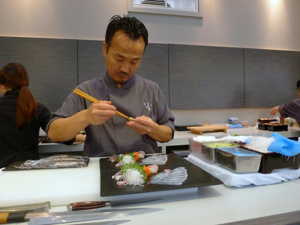 Umu's Chef Yoshinori Ishii hard at work