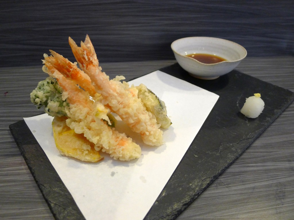 Umu blue tiger prawn tempura