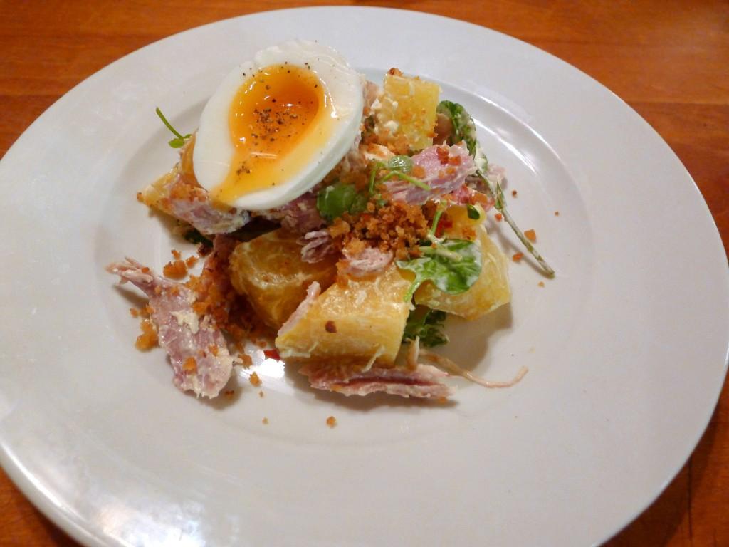 Ham, egg, beetroot & horseradish