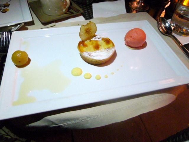 Sofitel Dubai Jumeirah Beach Hotel - pear clafoutis