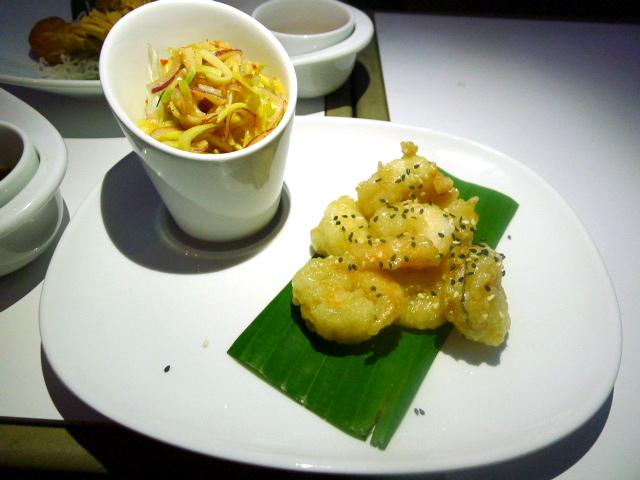 360 Bar & Lounge wasabi prawns