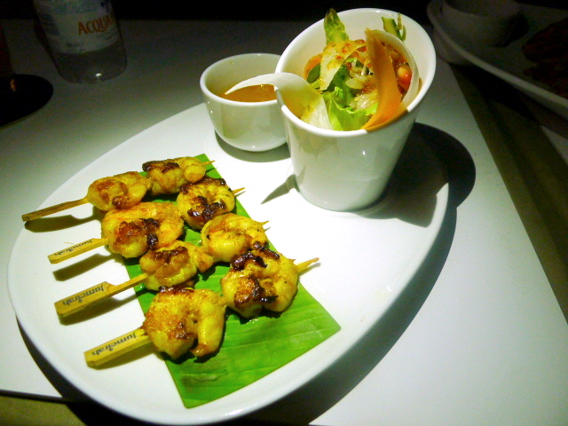 360 Bar & Lounge - prawn satay skewers