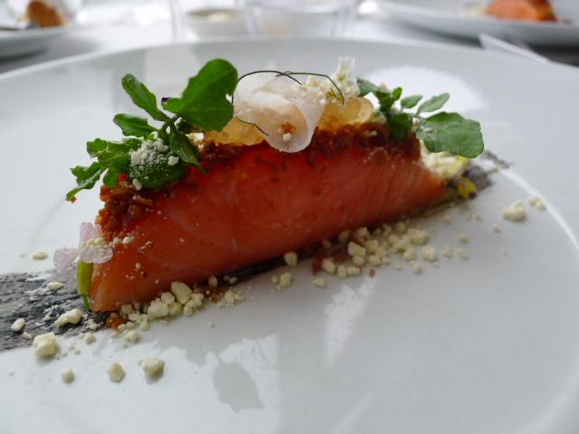 Altitude Restaurant - salmon confit