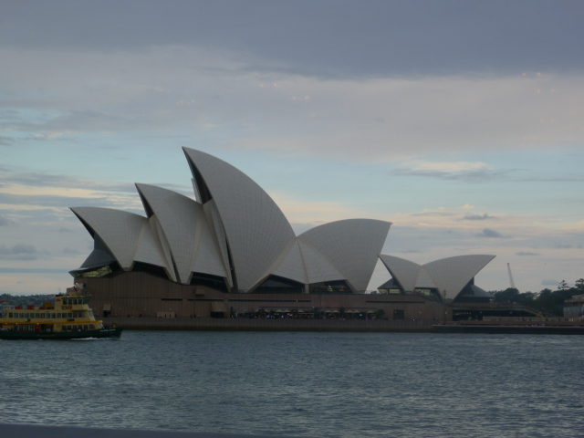 The Opera House at Dusk, from The Dining Room Restaurant