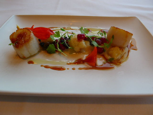 The Dining Room - Pan fried scallops