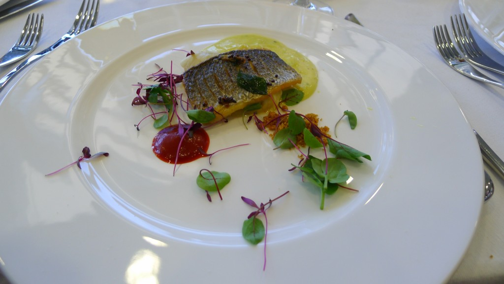 Royal Ascot 2014 - Sea bass by Atul Kochhar