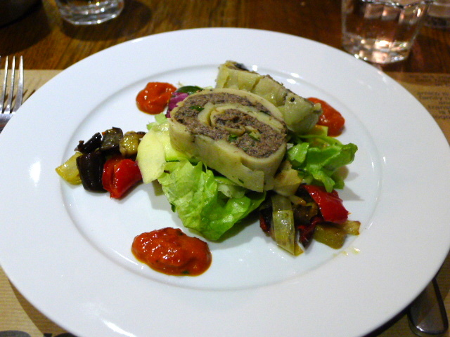 Amico Bio - Roulade of potato & mushrooms