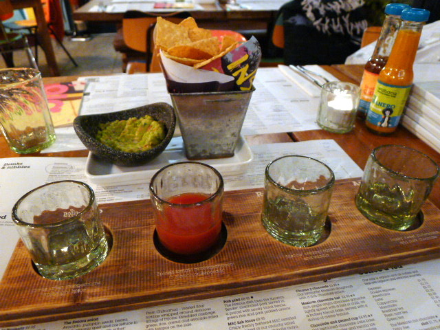 Wahaca tequila experience and guacamole