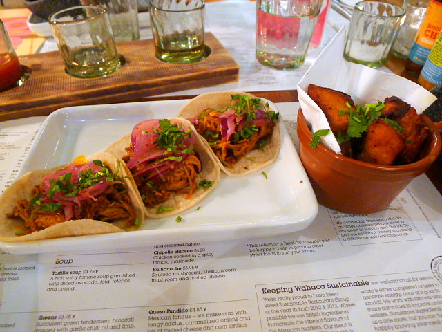 Wahaca - Pork pibil & sweet potato chunks