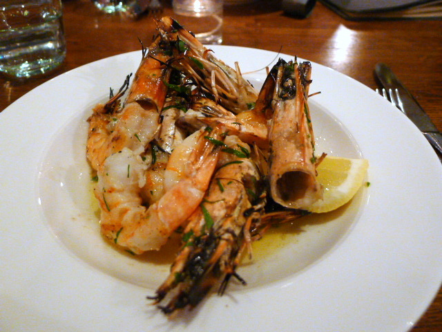 Cafe Murano - King prawns