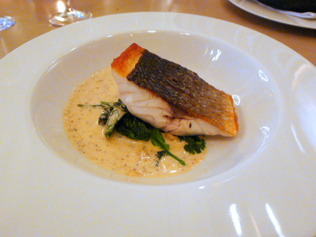 Berners Tavern - Roasted sea bass