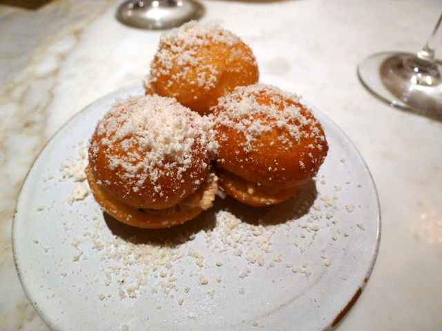 Chiltern Firehouse - Crab-stuffed donuts
