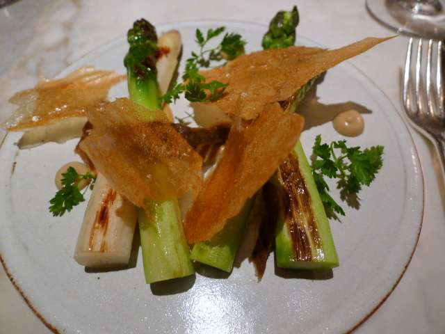 Chiltern Firehouse - Green & white asparagus