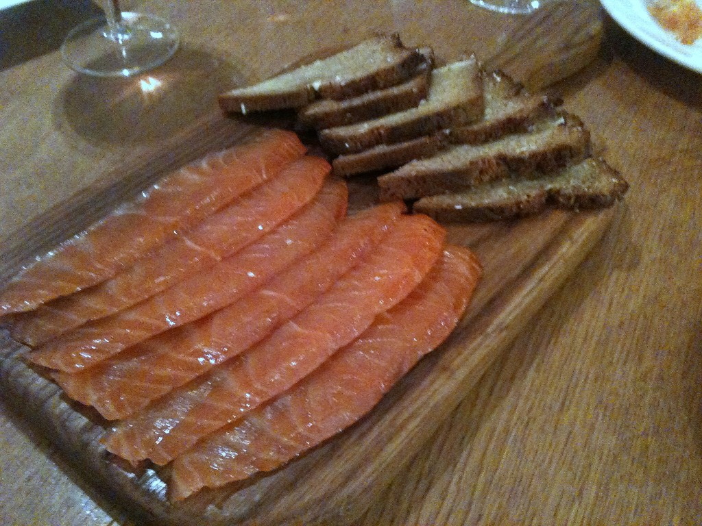Hix Selfridges - 'Hix cured' smoked salmon